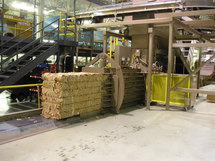 corrugated carton removal overhead conveyor