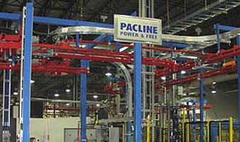 learn about Pacline's power and free overhead conveyor