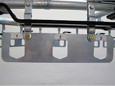 Storage racks for garment conveyor systems.