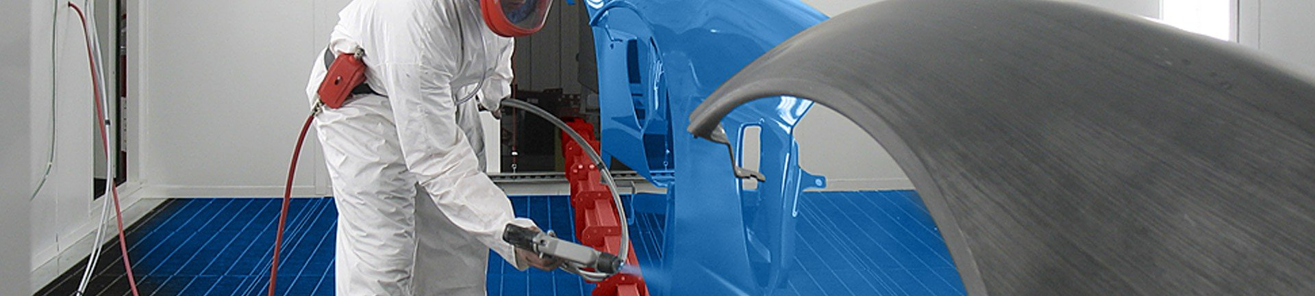 Overhead conveyor systems for automating painting and industrial finishing operations.