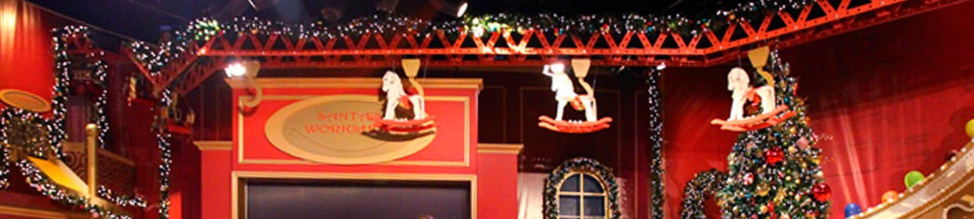 Overhead conveyors for moving sets and props on TV sets and live stages.