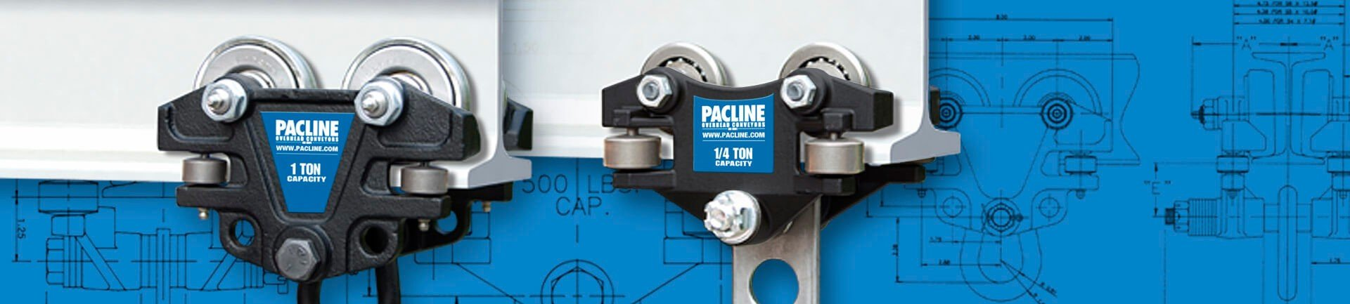 Hand push beam trolleys are expandable to various I Beam sizes