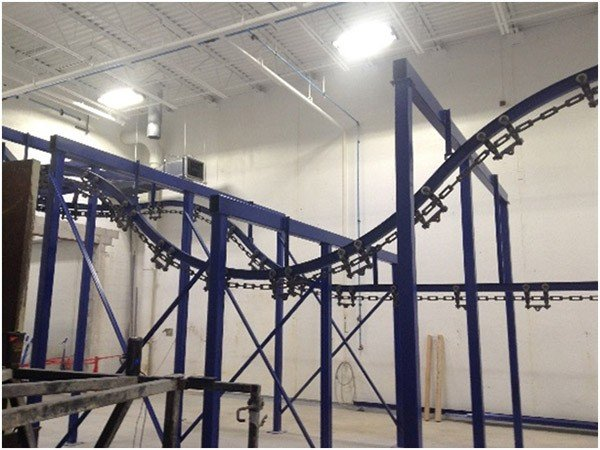 I-Beam conveyor is a cost effective option for many dip line finishing systems.