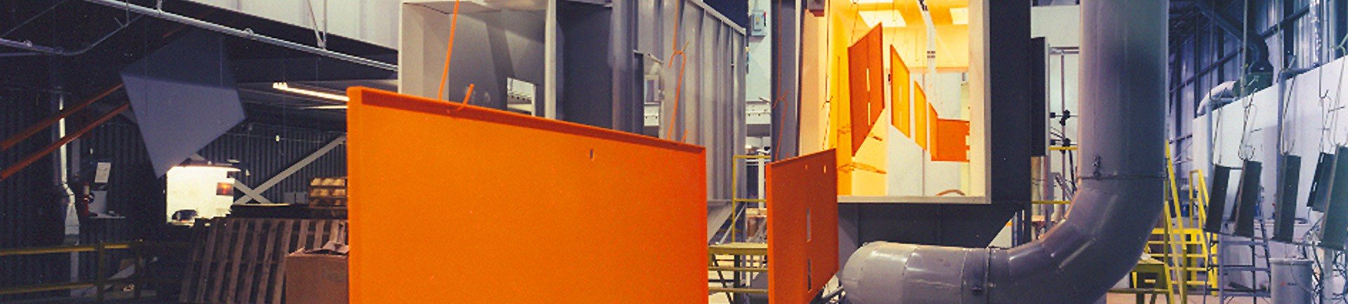 Overhead conveyor automates powder coating line and saves labor costs compared to a batch handling system.