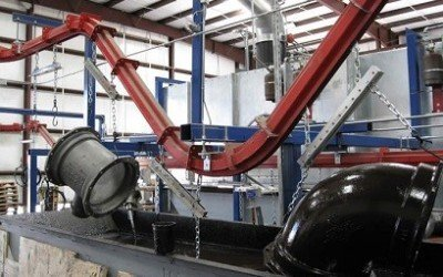 Conveyor Handles 400 lb Parts for Paint Finishing