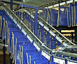 A floor to ceiling conveyor system for inmate property storage.