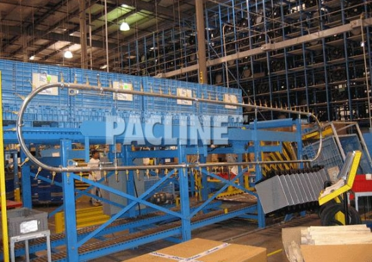 This Over/Under conveyor loop is used to accumulate automotive parts between welding operations.