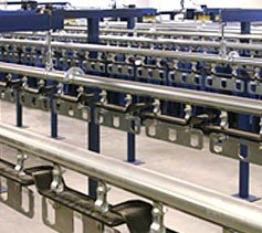uniform conveyor system that has multiple enclosed tracks.
