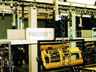 I-Beam conveyor used for assembling automotive instrument panels.