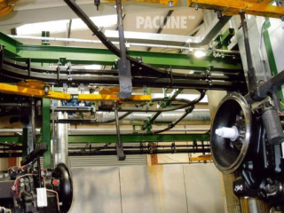 Power and Free conveyor assembly line perfect where non-synchronous movement is required.