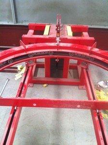 Heavy duty conveyor take-up