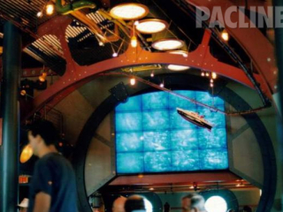 The Dive Restaurant used the overhead conveyor to creatively mobilize small sea boats above guests.