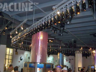 PACLINE's overhead conveyor was used to move Coca Cola bottles throughout the Coca Cola Museum in Atlanta, Georgia.