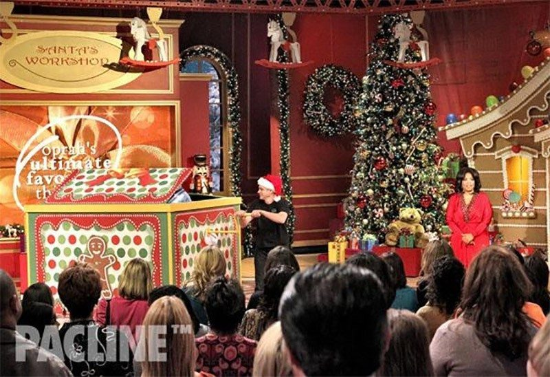 The PAC-LINE Conveyor was used on the set of Oprah Winfrey's 2010 Christmas Show, shown here moving rocking horses.