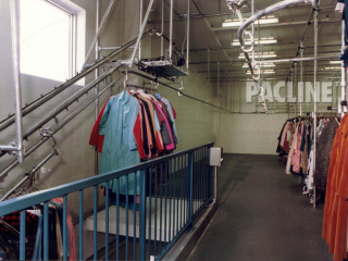 PACLINE garment handling system easy to install in any space and requires minimal maintenance.