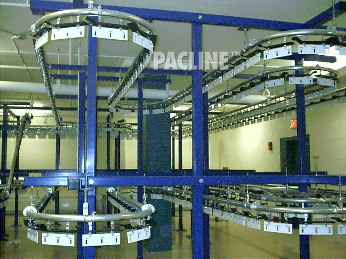 Garment Conveyor System Photos Pacline Overhead Conveyors