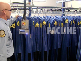 PACLINE ASRS is designed for compact storage and quick retrieval in any garment handling application.