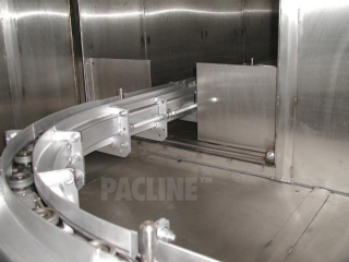 S-60 high capacity conveyor, inverted spindle type finishing conveyor for light bezels.