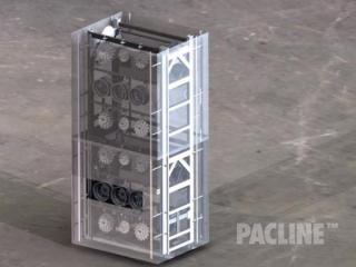Double height vertical conveyor