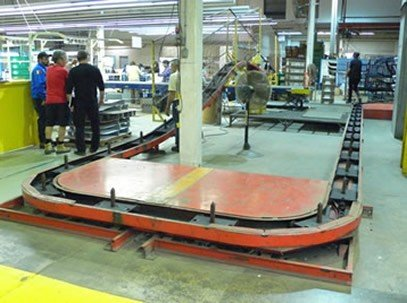 old spindle conveyor replaced by PAC-MAX conveyor