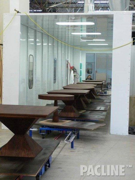 Handling Furniture of Multiple Shapes Through Multiple Finishing Processes