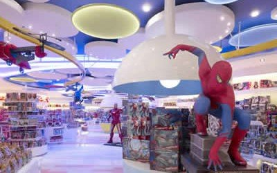 Overhead Conveyor for Over-the-Top Children's Store