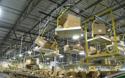 Overhead Conveyor Performs Double Duty