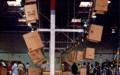 Space Efficient Overhead Conveyor System