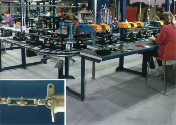 Inverted assembly line conveyors