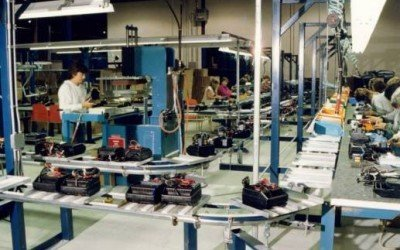 Inverted Assembly Line Conveyor