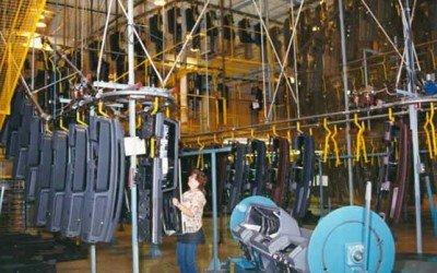 Overhead Conveyor Streamlines Instrument Panel Production
