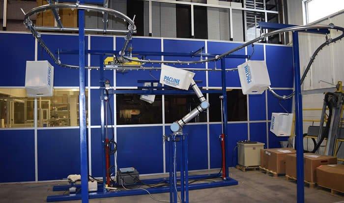 Pacline ProMat Show monorail conveyor test loop