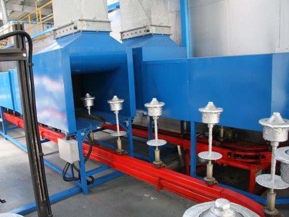 Heavy duty spindle conveyor alternative for powder coating