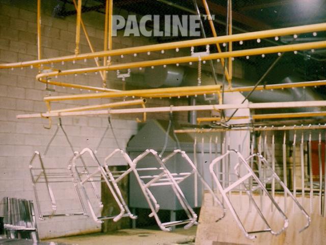 Overhead conveyor for plating process