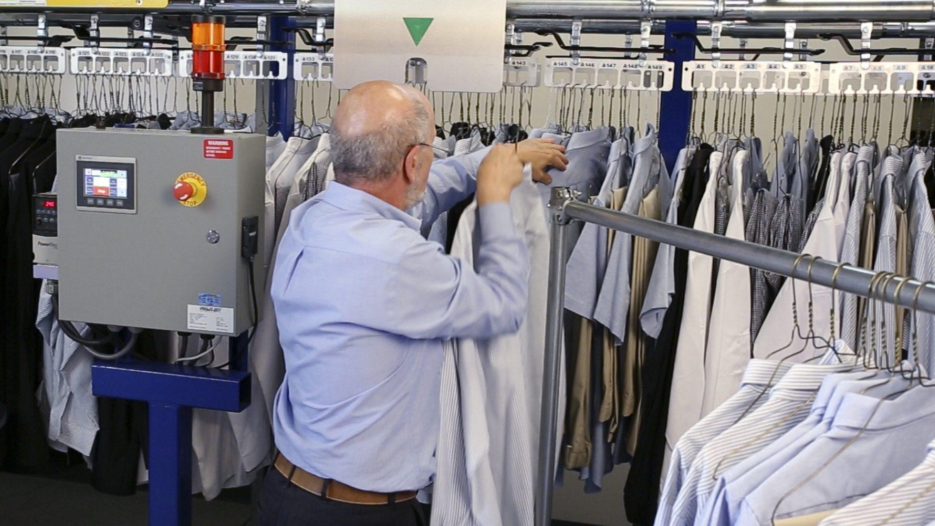 Maximize storage capacity of hanging uniforms.