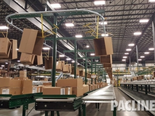Carton conveyor systems for large distribution center.