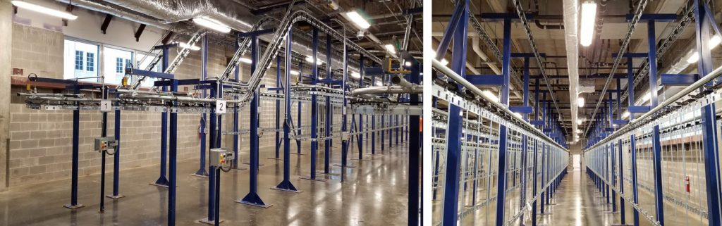 pacline large inmate property storage conveyor system