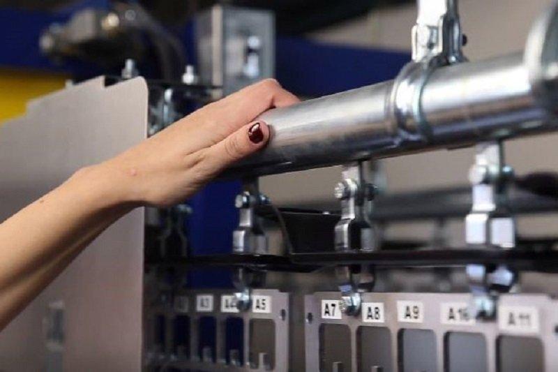 Operator safety when handling coat check conveyor
