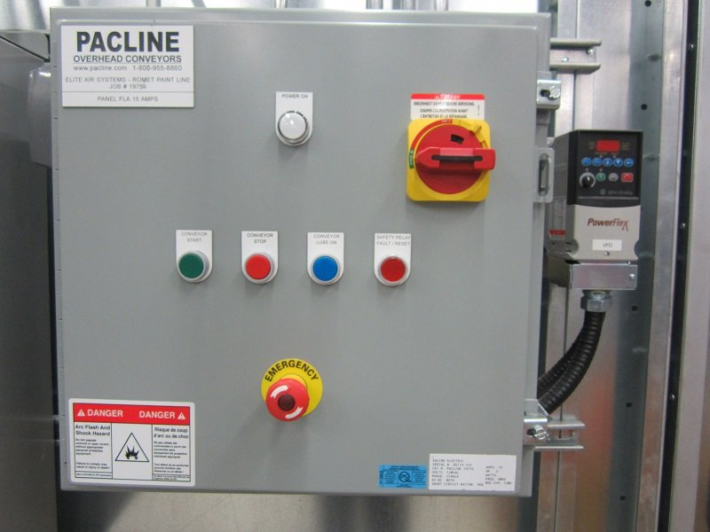 Control Panel for Gas Meter Paint Finishing System