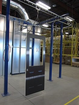 Overhead Conveyors for Doors and Windows finishing