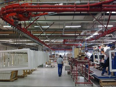 Power and Free Overhead Conveyors for Doors and Windows