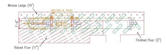 32 Degrees storefront display conveyor blueprints