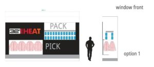 32 Degrees Storefront Display Conveyor Option