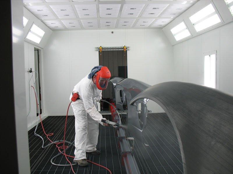 Chain-on-Edge Conveyor Alternative Paint Booth