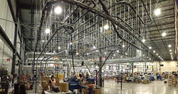 Custom Overhead Conveyor System for Storage and Retrieval