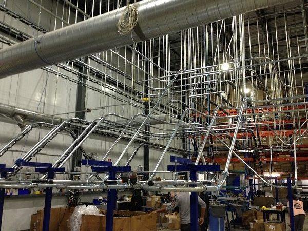 Five Loop Custom Conveyor for Storage and Retrieval System