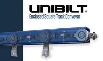 Licensed UNIBILT® Enclosed Track Conveyor Distributor