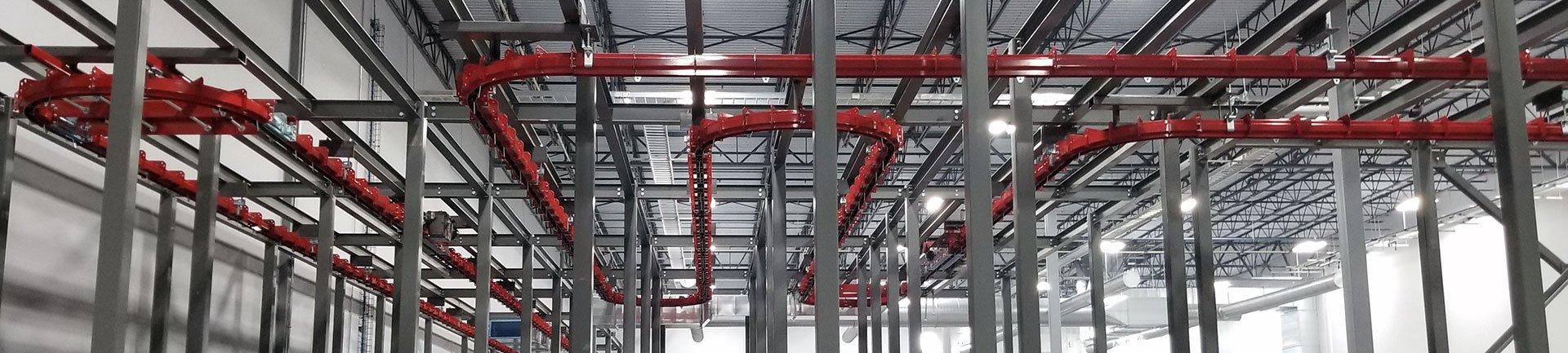 pacline overhead conveyors heavy duty conveyors