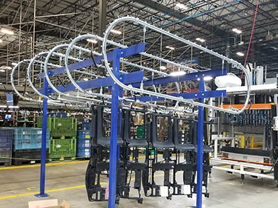 Unibilt over and under conveyor system