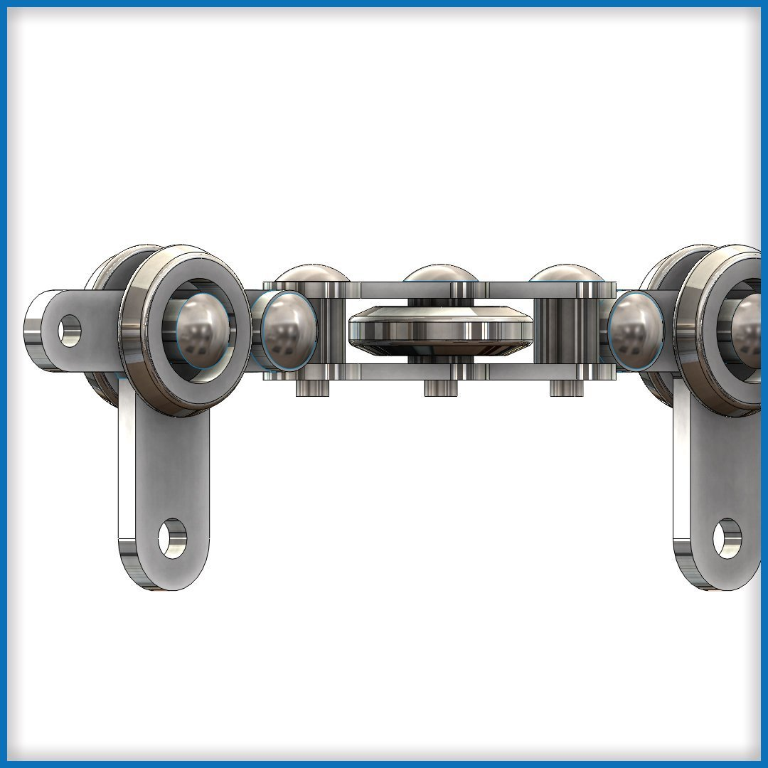 Round Track Overhead Conveyor Chain with Rivets